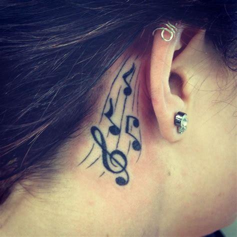 notes   ear tattooes tattoos  tattoos note tattoo