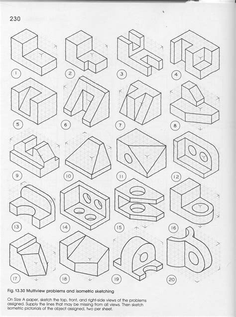 multiview drawing worksheets at getdrawings free for