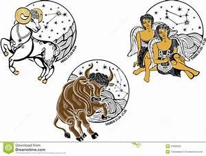 Widder Und Widder : widder stier zwillingsjungen und das sternzeichen horosc vektor abbildung illustration ~ Orissabook.com Haus und Dekorationen