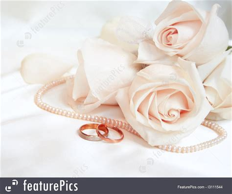 roses and wedding rings image