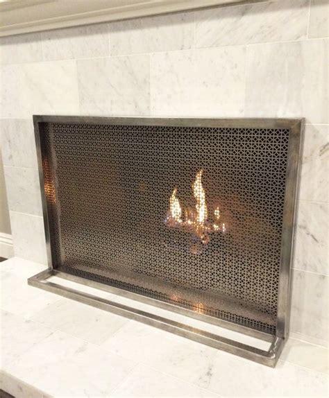 modern fireplace screen 1000 ideas about modern fireplace screen on