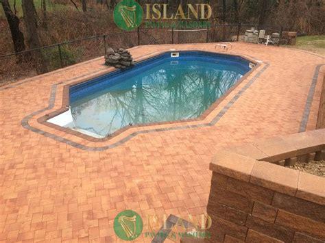 pool patio pavers island paving and masonry