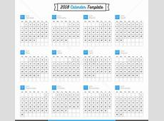 2018 Calendar Vector Easy to Edit Cdr Ai Files Free