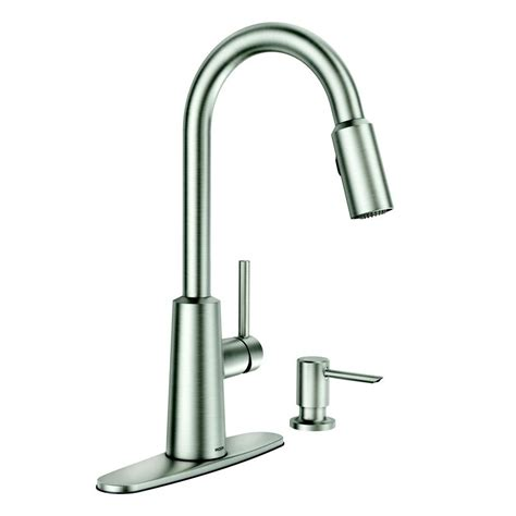 moen kitchen faucets canada moen nori stainless steel one handle pull spot resist
