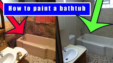 how to paint a bathroom how to paint a bathtub how to refinish an old bath tub youtube