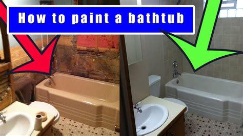 How To Paint A Bathtub  How To Refinish An Old Bath Tub