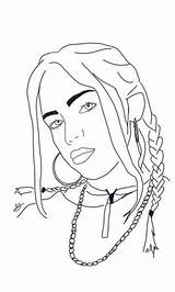 Billie Eilish Coloring Pages Billi Popular sketch template