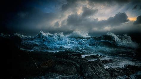 sea night waves wallpape  wallpaperscom