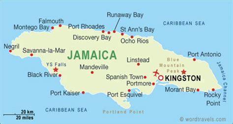 jamaica map  jamaica satellite images