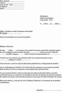 Resiliation Assurance Voiture : exemple de lettre de r siliation contrat assurance automobile pour changement de situation ~ Gottalentnigeria.com Avis de Voitures