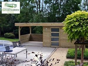 Pool House Toit Plat : abri de jardin pool house avec ou sans auvent concept abri ~ Melissatoandfro.com Idées de Décoration