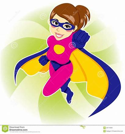 Superhero Woman Dreamstime Illustration