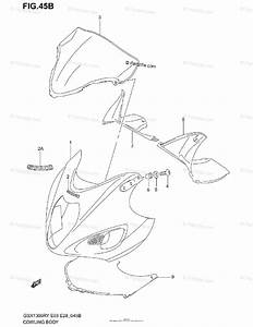 Suzuki Motorcycle 2003 Oem Parts Diagram For Cowling Body  Model K2
