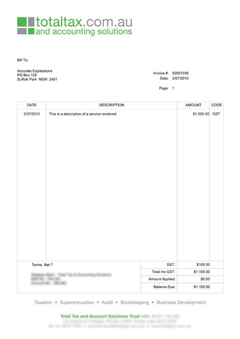 simple invoice template australia invoice sample template