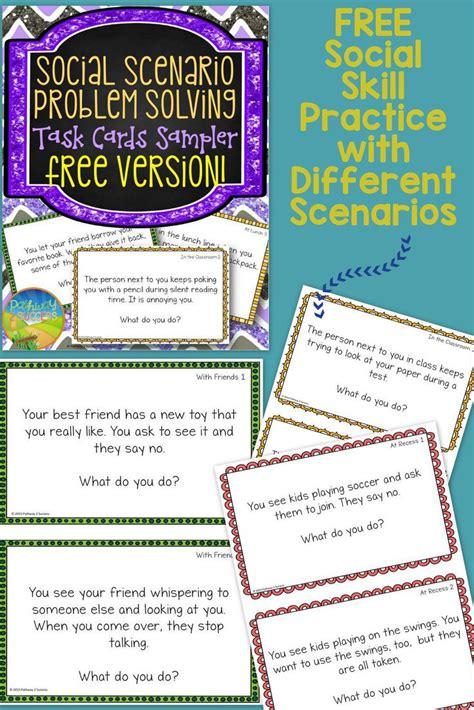 social scenario problem solving sampler  fun task