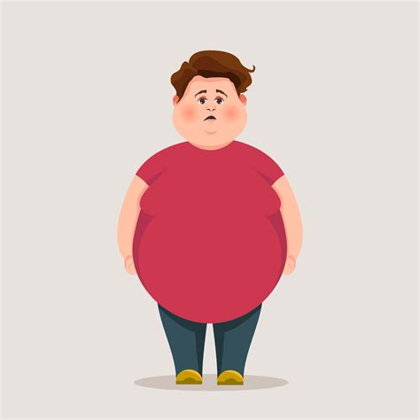 foto de Funny Fat Guy Vector Character Download Free Vectors