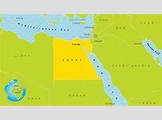 Het oude Egypte kaart voor kinderen Kaart van het oude