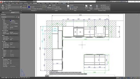 basic kitchen  autocad dimensioning exporting