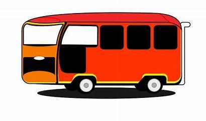 Bus Cartoon Stop Clipart
