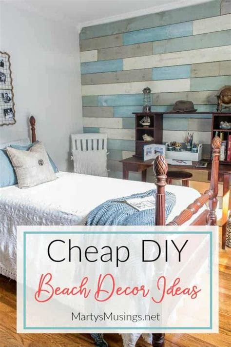 Aloha decor wooden wall decor aloha beach house summer style nautical decoration item no. Inexpensive DIY Beach Decor Ideas and Small Bedroom Reveal | Marty's Musings