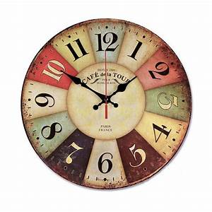 Wood Wall Clock $16.99@amazon