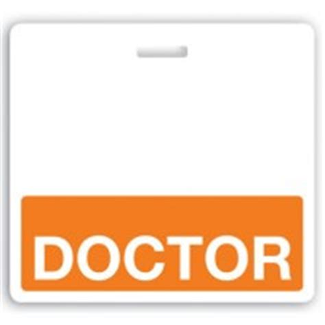 dr name tag template horizontal quot doctor quot badge buddies orange bar 3 3 32 quot x 3 3 8 quot