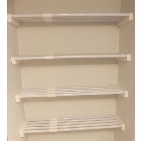 white two shelf easy track closet rs1423on 24 quot white shelves 2 count