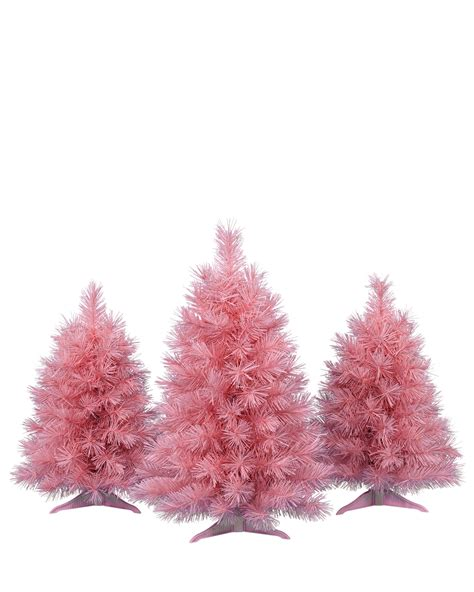 pretty in pink christmas tabletop christmas trees treetopia