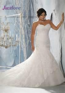 Sexy Backless plus Size wedding dress Sweetheart Lace Beading Bandage Tulle Mermaid wedding gowns Cheap Wholesale