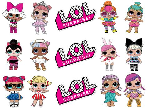 Lol Surprise! Doll Assorted Edible Cake Topper Image