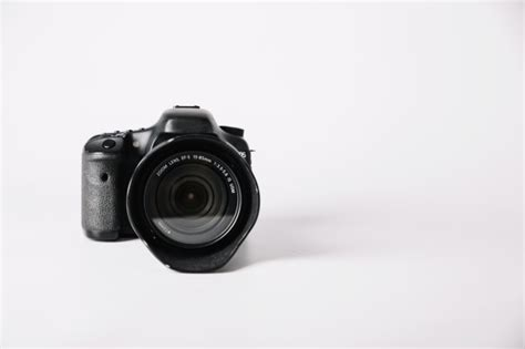 Professional Camera On White Background Photo  Free Download