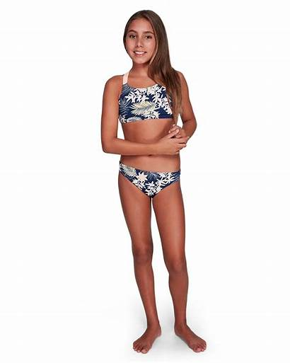 Roxy Bikini Swimwear Floral Teens Crop Med
