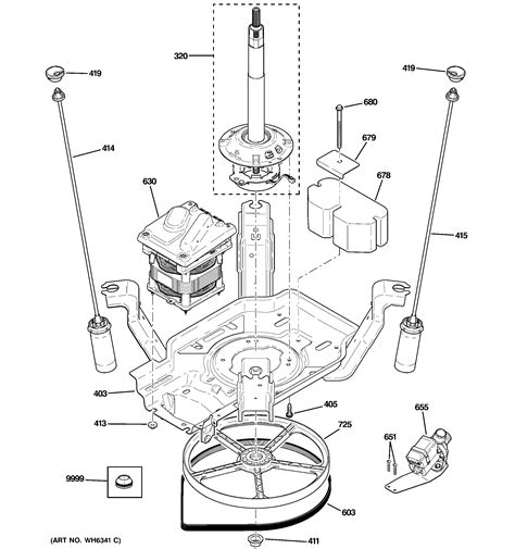 maytag dishwasher suspension drive components diagram parts list