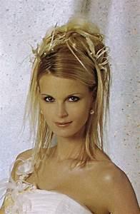 Coiffure Pour Cheveux Mi Longs : chignon mariage cheveux mi longs ~ Melissatoandfro.com Idées de Décoration