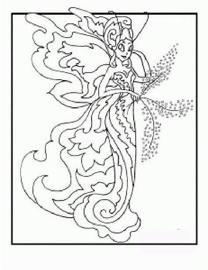 Coloring Fairy Adult Butterfly Printable Pelauts Books