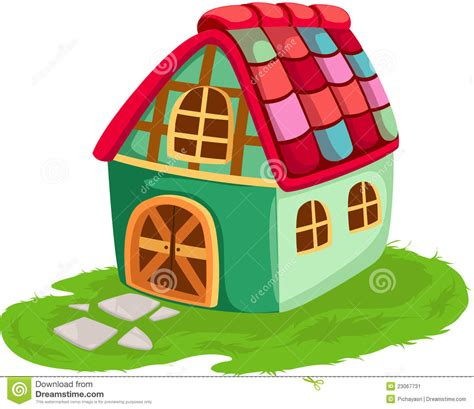 cartoon house stock vector illustration of icon