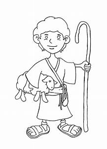 shepherd boy coloring page coloring pages With the colorplay