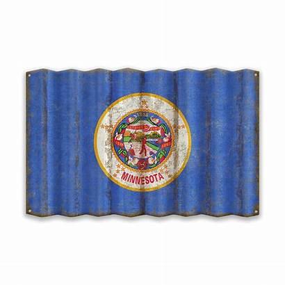 Minnesota Flag State Corrugated