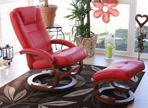 Relaxsessel Rot Leder : fernsehsessel relaxsessel sessel pescatori kunstleder mit hocker rot ~ Markanthonyermac.com Haus und Dekorationen