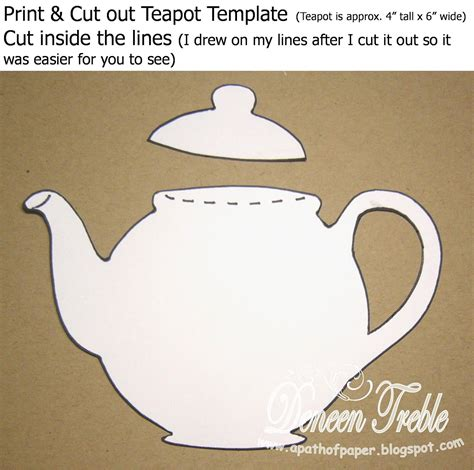 path  paper top tip tuesday teapot card tutorial