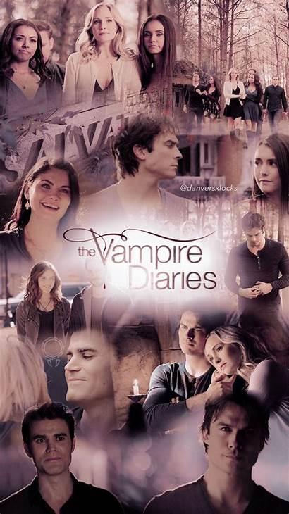 Diaries Vampire Tvd Wallpapers Lockscreen Aesthetic Collage