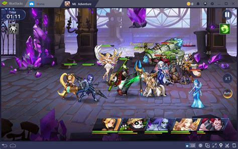 heroes  mobile legends adventure bluestacks