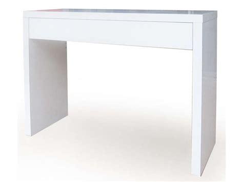 bureau blanc laqué ikea console blanc laque ikea swyze com