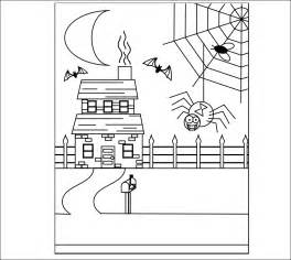Halloween Haunted House Coloring Pages Printables