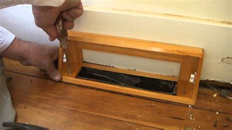 How To Install A Heat Vent Cover   YouTube
