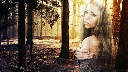 Ghost Woods Forest Woman Desktop Wallpapers Backgrounds