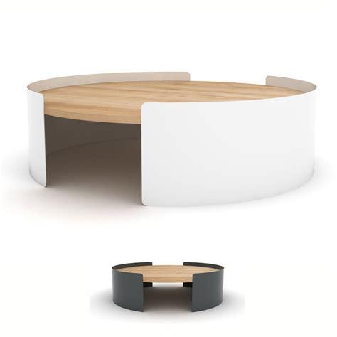 table basse bureau table basse ronde en métal et chêne massif table moon