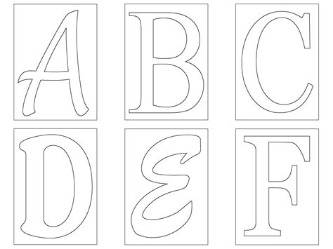Letters Templates Cut Out by Free Letter Templates Madinbelgrade