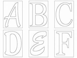 Free letter templates madinbelgrade for Letters templates cut out
