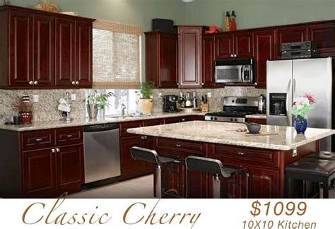 10x10 kitchen cabinets with island all wood kitchen cabinets 10x10 rta classic cherry ebay